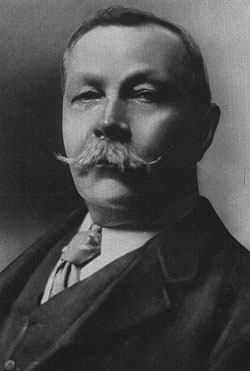 Conan Doyle in 1914, at the start of World War I. He was 55 years old ...  Conan Doyle